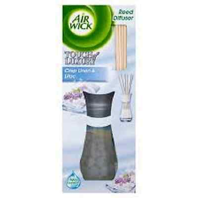3 packs of Air Wick Reed Diffusers - Crisp Linen & Lilac - Touch of Luxury range