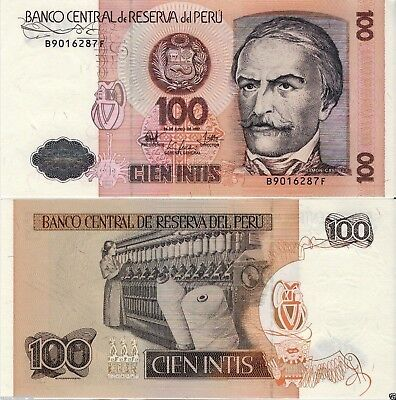1987 uncirculated 100 intis bank note from peru 100 picclick uk banknote peru unc 100 intis cien 1987 central banco p 133 bankfrisch aus bndel thecheapjerseys Image collections