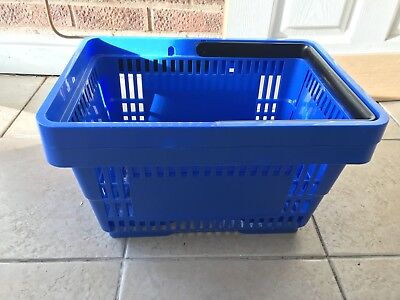 Blue Shopping Baskets x2