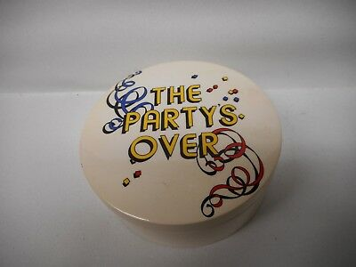 1978 Fitz and Floyd THE PARTY'S OVER TRINKET BOX