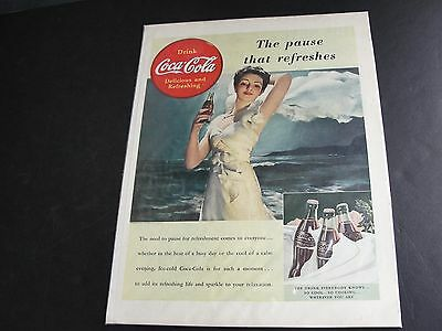 1939 War Time Magazine Advertisement-Coca Cola Coke-The pause that refreshes!