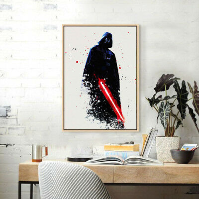 FRAMED Home Decor Canvas Print Painting Wall Art Modern Star Wars ...