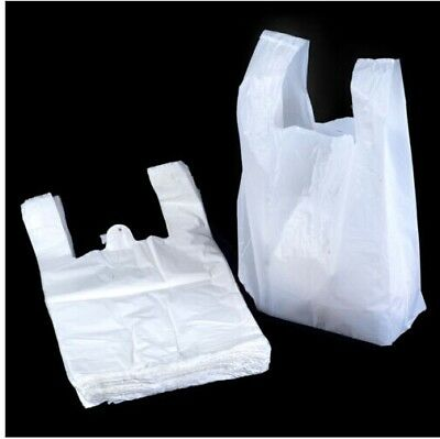 Plastic Vest Carrier Bags White *all Sizes* - Supermarkets Stalls Shops