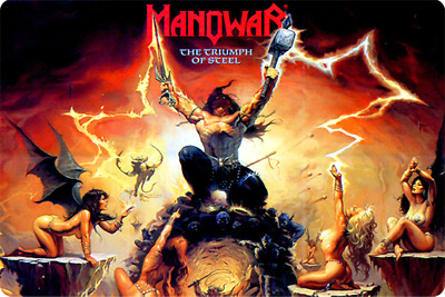 MANOWAR THE TRUMPH OF STEEL inches  poster magnet