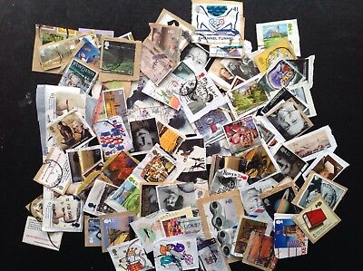 GB STAMPS 30 Grms  DAMAGED High Value Commemoratives Kiloware HV Space Fillers