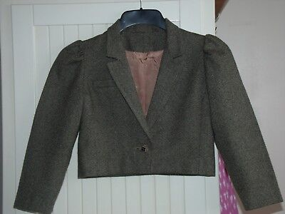 Unique Vintage HANDMADE Girls Cropped Jacket'VOGUE AMERICAN DESIGNER'1975/6 OOAK
