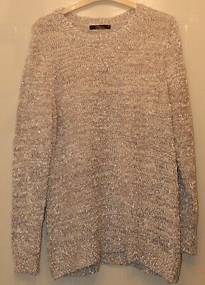 Bon Marche BM Collection Grey Jumper with Sequin and Glitter Detail - Size M 14/