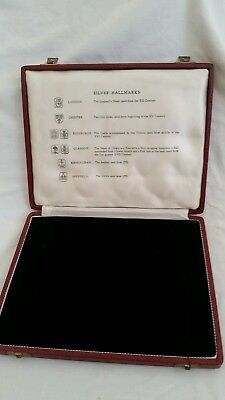 Vintage Solid Silver Spoons Box With Silver Hallmarks Charts Inside Good Conditi