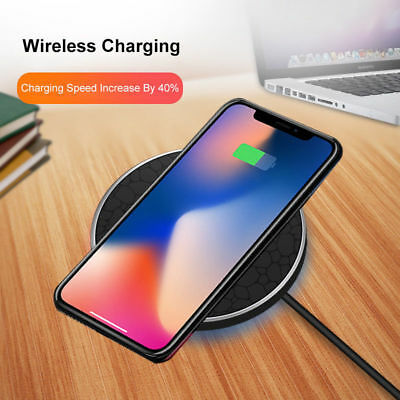 Chargeur Wireless 2018 Qi Induction Iphone X  8/8Plus Samsung S8/s8 Plus Note 8
