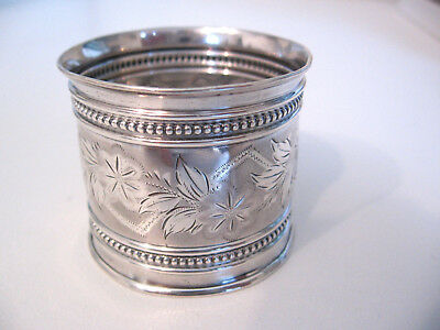 Ornate Gorham Sterling Silver napkin ring with beading