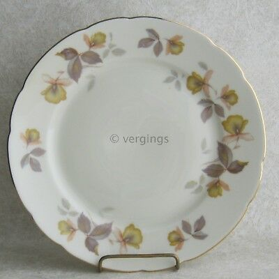 KPM Royal Ivory Autumn Orchids Salad Plate Dessert Gold Trim Germany Fine China