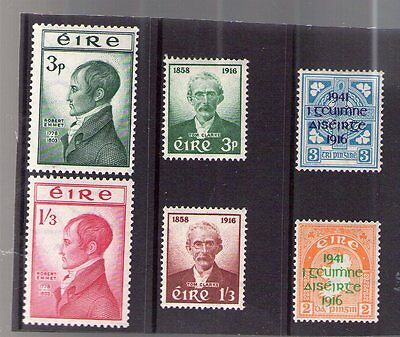 3 Rare Sets Irish  Mnh Stamps Of  Irish Republicians, All Different All New.