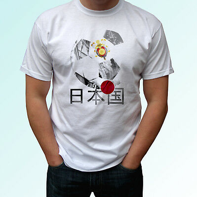 Japan football flag white t shirt design soccer world cup top tee all sizes