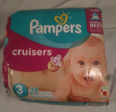 Pampers Diapers Size 3 28 Disposable Cusiers Diapers NEW package