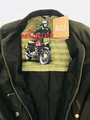 Men's Barbour International Steve Mcqueen Waxed Jacket Windcheater Medium Olive