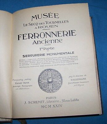 Henri Le Secq Book of Book Plates 104  Museum of Antique Ironworks 1924 Vol.1