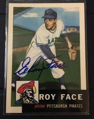 Roy Face 1953 Topps Archives (1991) Autographed Signed Auto Baseball Card 246