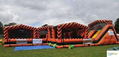 Assault Course with Slide - Mechanical - Inflatable (ONLY ONE IN THE UK)
