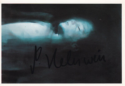 "Gottfried HELNWEIN (1948) original sign. photo card ""Ali, 1991"" autograph"