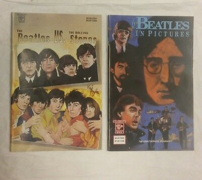 Set of 2 The Beatles Vs The Rolling Stones & The Beatles In Pictures Comic Books