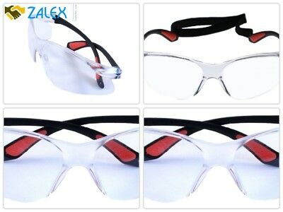 Protective Eyewear Anti Fog Shatterproof Lens Clear With Adjustable Strap New