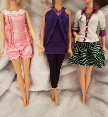 New Barbie doll outfits/ clothes/ dress and shoes x3  good quality   (lot 5)