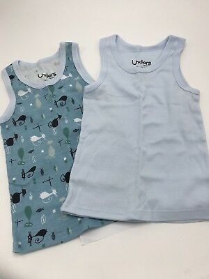 Unders by Grovia Pair 2 Tank Tops New Retro Cats Size 3T
