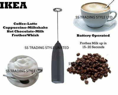 IKEA Electric Battery Powered Whisk Coffee Milk Mixer Stirrer Frother Egg Beater