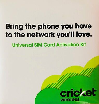 Cricket Wireless Prepaid Sim Card incl 1st Month $55 Unlimited Everything Plan