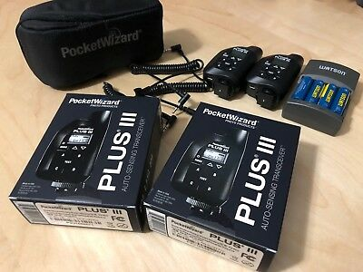 Pocket Wizard Plus III Combo! Case, Rechargeable AA's, and Charger Included!