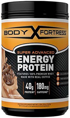 Body Fortress Energy Protein - Mocha Cappuccino, 1.25 Pounds