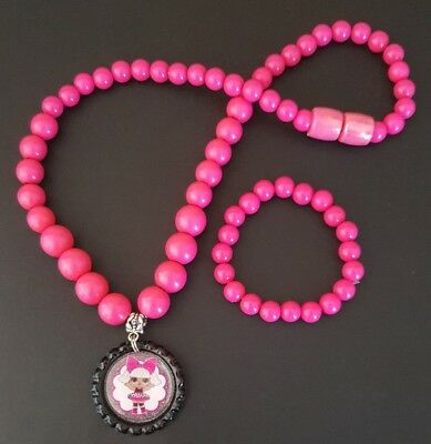 1 x LOL Surprise Doll Handmade Beaded Necklace and Bracelet