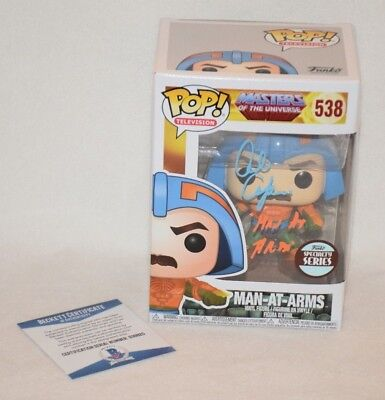 Alan Oppenheimer Signed Autographed M.u. Man At Arms Funko Pop Bas Coa D39825