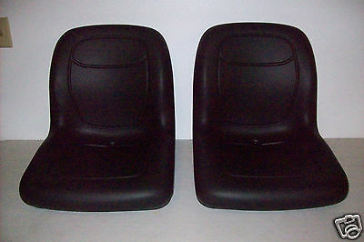 (2) Black High Back Seats John Deere Trail Gator Gas Diesel 4X2 4X4 Hpx 6X4 #gi