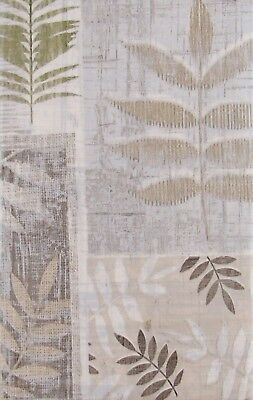 Tropical Leaf Imprints Vinyl Flannel Back Tablecloth - Various Sizes