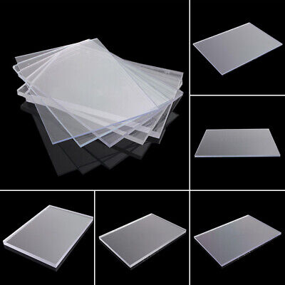 Clear Acrylic Perspex Sheet Plastic Panel Plexiglass Cut To Size 148mm x 105mm