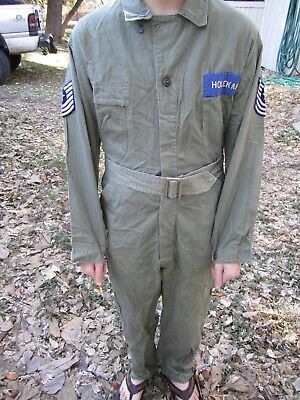 WWII WW2 US Army HBT Coveralls  Mechanic USAF 13 Star Air Force Tanker