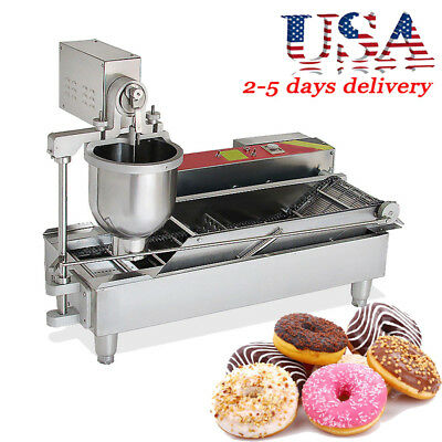 6KW Automatic Electric Donut Making Machine Donut Fryer 7L hopper 3 outlet