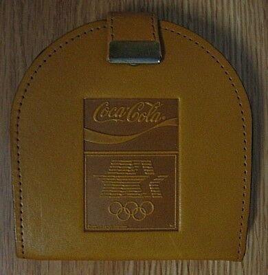 Coca-Cola Olympic Coasters Set of 6 with holder 1980