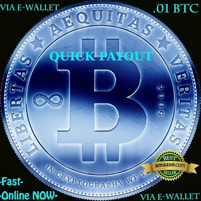 Quick Payout BTC - .01 BITCOIN Instantly - Multiple Payment Methodz - Fast!