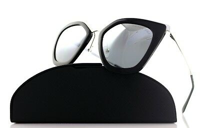 8871e485cc1 POLARIZED Genuine PRADA CINEMA EVOLUTION Black Silver Sunglasses SPR 53S  1AB-6R2