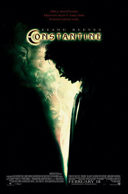 CONSTANTINE MOVIE POSTER 2 Sided ORIGINAL FINAL 27x40 KEANU REEVES RACHEL WEISZ