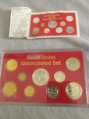 Last Coins Of The Soviet  Union Uncirculated Set 1988