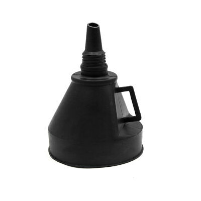 Black Plastic Universal Outdoor Car Vehicle Oil Water Fuel Gas Petrol Funnel