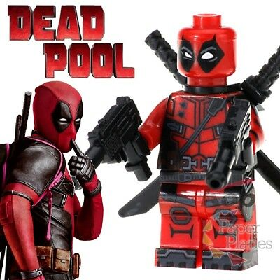 Deadpool Maßgeschneidert Minifigur Passt Lego Toy Marvel Deadpool 2 X190