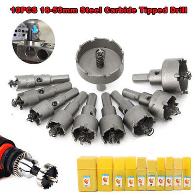 Carbide Tip TCT Drill Bit Hole Saw For Stainless Steel Metal Alloy 22/65mm 10Pcs