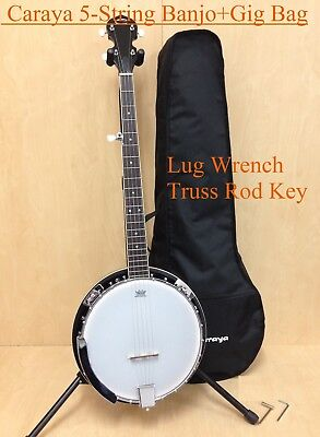 Brand New Caraya Miky Top,Mahogany Resonator 5-String Banjo w/Free Bag |BJ-005|