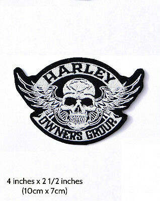 Patch Harley HOG Skull ( bikers emblem )