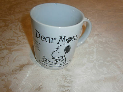 Hungry Jacks Promotional Celebration Peanuts 45 Years Mug/cup - Snoopy Dear Mom