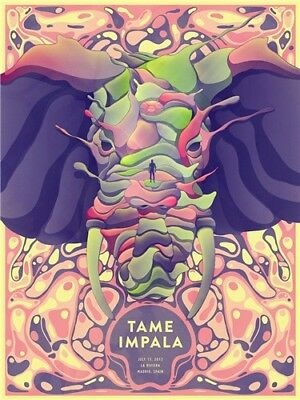 """Tame Impala Psychedelic Rock Music Band Cover 32x24"""" Poster fabric Print Art 09"""